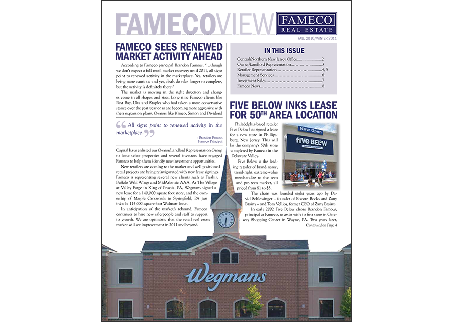 fameco newsletter design