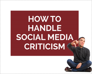 how to handle social media criticism ebook